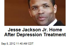 Jesse Jackson Jr. Home After Depression Treatment