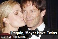 Paquin, Moyer Have Twins