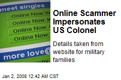 Online Scammer Impersonates US Colonel