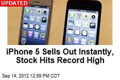 iPhone 5 Sells Out Instantly on Apple.com
