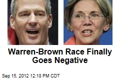 Warren-Brown Race Finally Goes Negative