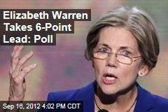 Elizabeth Warren Takes 6-Point Lead: Poll