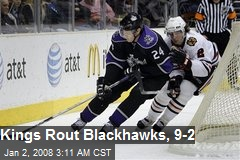 Kings Rout Blackhawks, 9-2