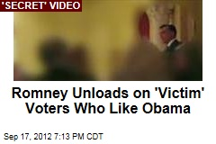 Romney Unloads on 'Victim' Voters Who Like Obama