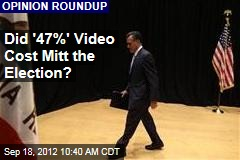 Did '47%' Video Cost Mitt the Election?