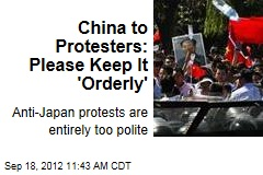China to Protesters: Please Keep It 'Orderly'