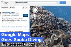 Google Maps Goes Scuba Diving