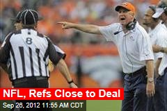 NFL, Refs Close to Deal