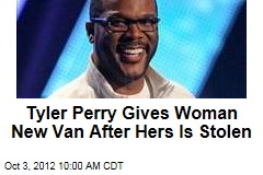 Tyler Perry Gives Woman New Van After Hers Is Stolen