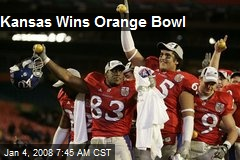 Kansas Wins Orange Bowl