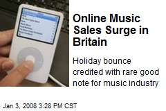 Online Music Sales Surge in Britain