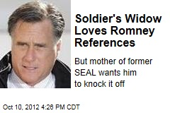Soldier's Widow Loves Romney References
