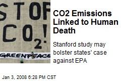 CO2 Emissions Linked to Human Death