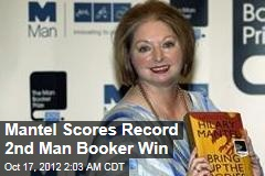 Mantel Scores Record 2nd Man Booker Win