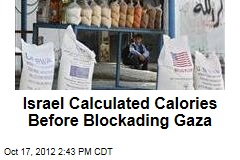Israel Calculated Calories Before Blockading Gaza