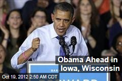 Obama Ahead in Iowa, Wisconsin