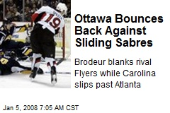 Ottawa Bounces Back Against Sliding Sabres