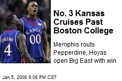 No. 3 Kansas Cruises Past Boston College
