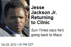 Jesse Jackson Jr. Returning to Clinic