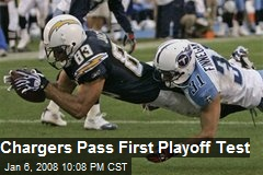 Chargers Pass First Playoff Test