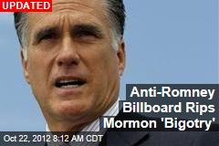 Atheist Billboard Targets Romney's Faith