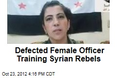 Defected Female Officer Training Syrian Rebels
