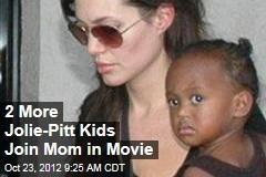 2 More Jolie-Pitt Kids Join Mom in Movie