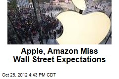 Apple, Amazon Miss Wall Street Expectations
