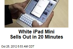 White iPad Mini Sells Out in 20 Minutes