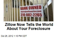Zillow Now Tells the World About Your Foreclosure