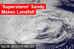 Sandy Morphs Into Huge 'Superstorm'
