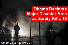 Sandy Leaves 16 Dead, Millions Without Power