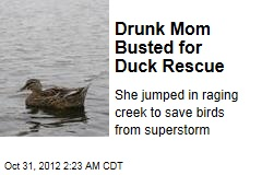 Drunk Mom Busted for Duck Rescue