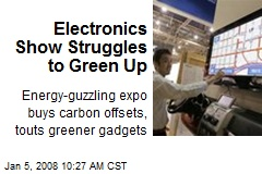 Electronics Show Struggles to Green Up