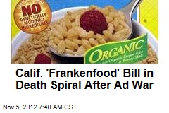 Calif. 'Frankenfood' Bill in Death Spiral After Ad War