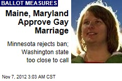 Maine Votes for Gay Marriage