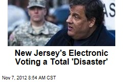 New Jersey's Electronic Voting a Total 'Disaster'