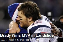 Brady Wins MVP in Landslide