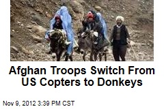 Afghan Troops Switch From US Copters to Donkeys
