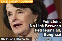 Feinstein: No Link Between Petraeus' Fall, Benghazi