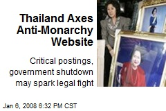 Thailand Axes Anti-Monarchy Website
