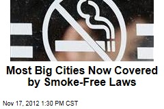 Most Big Cities Now Covered by Smoke-Free Laws