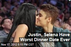 Justin, Selena Have Worst Dinner Date Ever