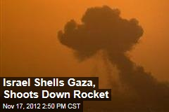 Israel Shells Gaza, Shoots Down Rocket