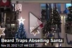 Beard Traps Abseiling Santa