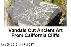 Vandals Cut Ancient Art From California Cliffs