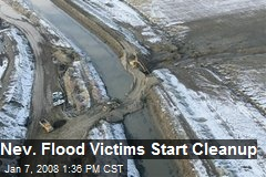 Nev. Flood Victims Start Cleanup