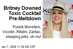 Britney Downed Toxic Cocktail Pre-Meltdown