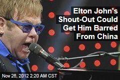 Elton John Praises Dissident at Beijing Concert