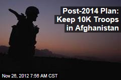 Post-2014 Plan: Keep 10K Troops in Afghanistan